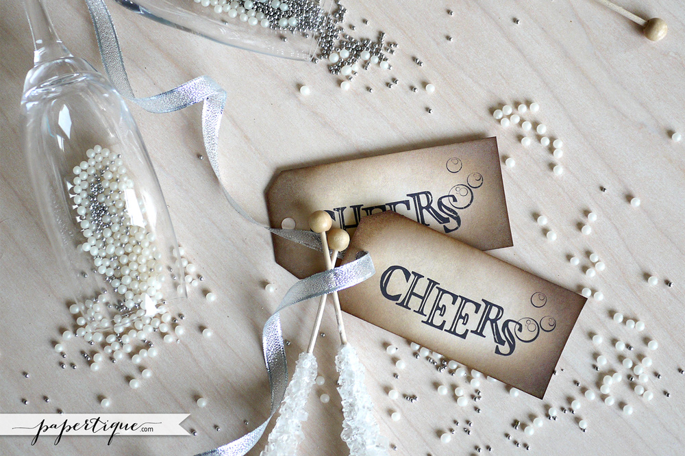 Papertique - Champagne Cheers Tags