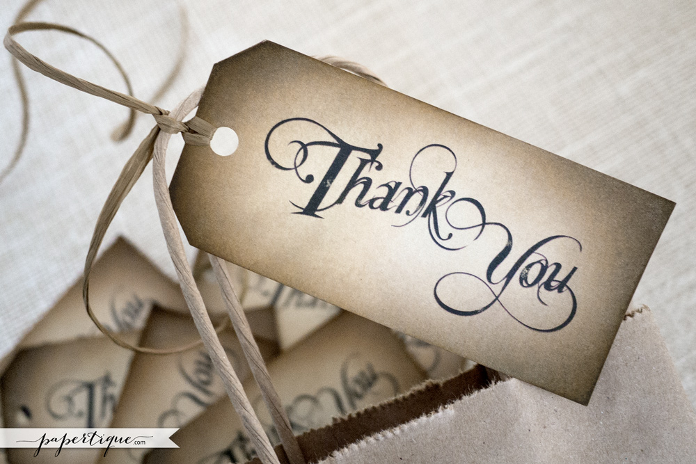Papertique - Thank You Favors